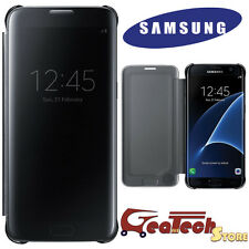 Clear View Cover Originale Per Samsung Galaxy S7 Edge G935F Custodia Slim Black