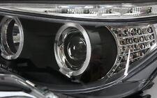 SCHEINWERFER BMW E60 E61 TAGFAHRLICHT TFL STANDLICHTRINGE SCHWARZ + LED BLINKER