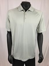 Nike Golf Dri-Fit Gray Short Sleeve Polo Shirt Mens L