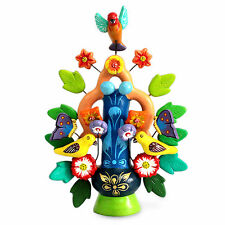 Ceramic Candleholder Sculpture 'Spring Tree of Life' Original Art NOVICA Peru