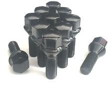 (20) 14x1.5 ACORN BLACK CONICAL CONE SEAT WHEEL LUG BOLTS AUDI MERCEDES VW 28MM
