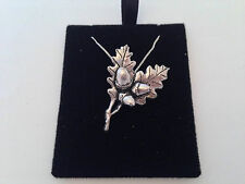 C24 Oak Leaves on a 925 sterling silver Necklace Handmade 16 chain