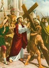 "14 Catholic STATIONS OF THE CROSS set Pictures Prints 6X8"" VIA CRUCIS from ITALY"