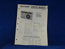 Sharp GF-1900 Radio Cassette Player Service Manual