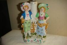 VINTAGE PORCELAIN VICTORIAN STYLE TABLE LAMP FEATURING YOUNG COUPLE FIGURINE