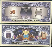1 'Chanuka' Fake Dollar Bill......... usa american note gift present paper money