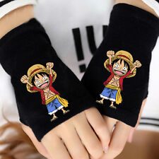 Anime One Piece Strawhat Pirates Luffy Cosplay Cotton Gloves Fingerless Mittens