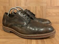 Used�� Mephisto Brown Leather Fashion Laced OX Aged Distressed Sz 8 Air Jet Men