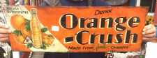 Vintage Rare Orange Crush Soda Pop Metal Sign W/ Crushy & Bottle Graphics