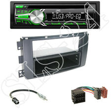 JVC KD-R453E CD Autoradio + Smart ForTwo/ ForFour Blende schwarz + ISO Adapter