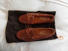 Tod's Gommino brown/Orange Driving shoes in Leather, EU 38.5, UK 5.5