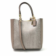 COACH 28302 Madison Mini Bonded Lizard Embossed North South Leather Tote Bag