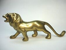 Vintage Italian Bronze  Lion  Figurine / Elegant paperweight .Rare collectible