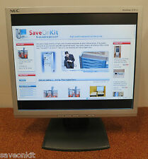 "NEC 17"" AccuSync 73V LCD FLAT TFT Monitor Display Screen ASLCD73V-BK"