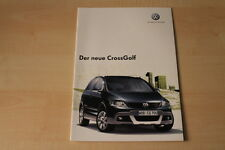 68392) VW Golf plus CrossGolf Prospekt 11/2006