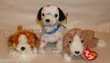 NEW TY 3 Dogs Puppies Sampson + Dizzy + Sniffer Best of Friends Ideal Gift