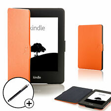 Coque orange en cuir Smart Case Cover pour Amazon Kindle Paperwhite 2015 + Stylet