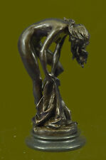Elegant Patoue Nude Young Woman Female Bronze Marble Figure Sculpture Statue