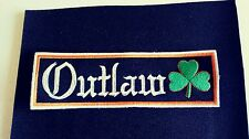 Irish Outlaw Patch with Shamrock 1%er Harley Patch