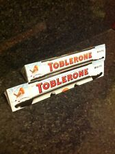 2 x 360g Large Toblerone Swiss White Chocolate bar Xmas party Christmas famous
