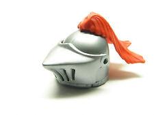 Playmobil Médiéval Moyen Âge Tournoi - Casque Gris Argenté Plume Rouge AC1271