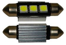 2x ampoule C5W 12V 3LED SMD blanc effet xénon 36mm navette éclairage intérieur