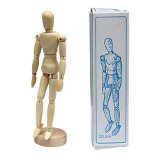 "Unisex 5.5""  Wood Unisex Art Mannequin Wooden Sectioned Posable Human Figure"