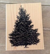 PSX BOTANICAL CHRISTMAS TREE PINE FIR TREE Rubber Stamp 1999 Wood Mounted K1453
