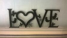 Love with Birds, Butterflies & flowers - Metal Wall/Door Art