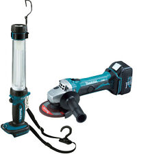 Makita BGA452 18v Cordless Angle Grinder and BL1830 Battery + DML184 Torch