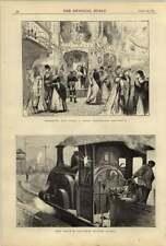 1875 The Origin Of Railway Accidents Brooklyn Ny Lady Washington Tea Party