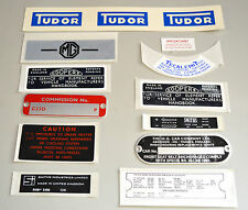 MG MGB GT 1965 1967 Decal Sticker and Plate Kit MGK2005 Body panel graphic Ahesi