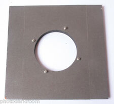 "6"" Square Wood Lens Board 67mm Unthreaded Opening - Large Format - USED E20A"
