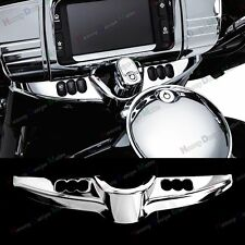 Chrome Batwing Switch Panel Accent For Harley Touring Tri Glide FLHX 14-17