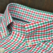 NWT Vineyard Vines red/green Gingham Tucker shirt Classic fit MEDIUM 30% OFF