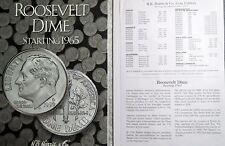 ROOSEVELT DIMES 1965-NOW,  4-Page H.E. HARRIS FOLDER, PDS Slots, With NO Coins