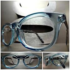 VINTAGE RETRO Style READING EYE GLASSES READERS Baby Blue & Tortoise Frame +2.00