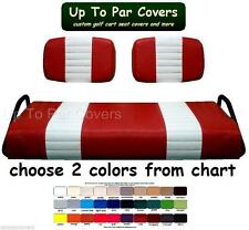 ClubCar Pre 2000 DS 2-Stripe Golf Cart Custom Vinyl Seat Cover Set - ZIPS ON!