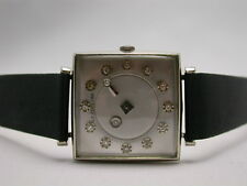 LE COULTRE GALAXY DIAMOND MYSTERY DIAL 14K WHITE GOLD MEN'S WATCH