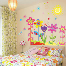 Fashion Cartoon Flower Child Room Removeable Safe Wall Sticker Mural Decoration