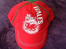 WALES THE GREATEST GAME WELSH DRAGON BASEBALL CAP