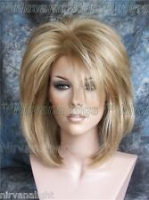 LARGE FIT Golden Blonde w Highlights Layers Womans Nirvana Tina Turner Drag? Wig