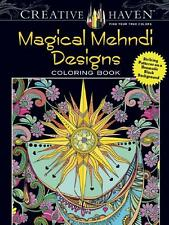 ADULT COLORING BOOK ~ MAGICAL MEHNDI DESIGNS ~ REMOVEABLE PAGES FOR EASY FRAMING