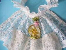 Antique Cotton French Lace Flounce Jabot ~ Collar, Neck Ruffle, Dickie
