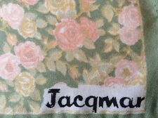 JACQMAR VINTAGE HAND ROLLED FLORAL SCARF.  26 x 26 INCHES.  VERY PRETTY!