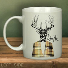 DEER ME STAG Mug White Novelty Cup Gift Present