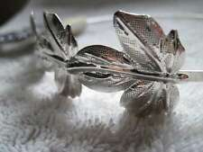 Goody Fashionow Silver Metal Head Band Leaves Greek Costume Headband Leaf Hair