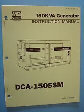 MQ Power 150KVA Generator  DCA-150SSM  Instruction  Manual S/N 3623474~