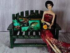 """AllforDoll OOAK DIORAMA 1:4 scale Furniture BENCH for 16"""" Tonner Ficon BJD Dolls"""