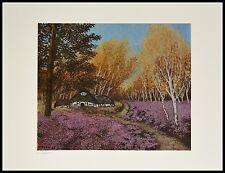 Heide Dahl Heidehaus Poster Kunstdruck Bild handsigniert mit Alu Rahmen 30x40cm